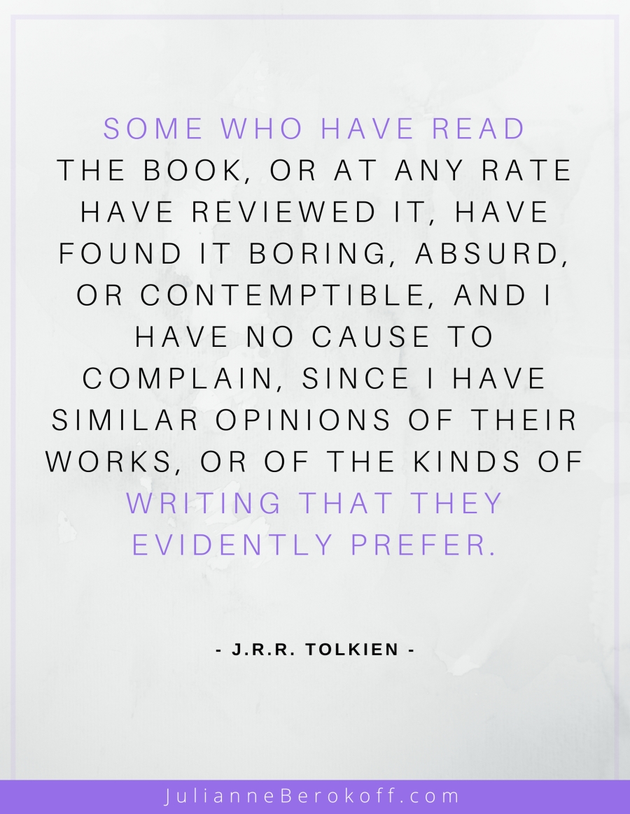 J. R. R. Tolkien inspirational author quote
