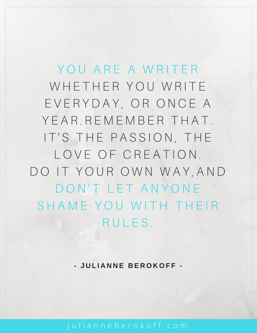 Julianne Berokoff inspirational author quote