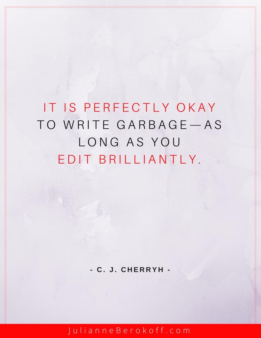 C.J Cherryh inspirational author quote