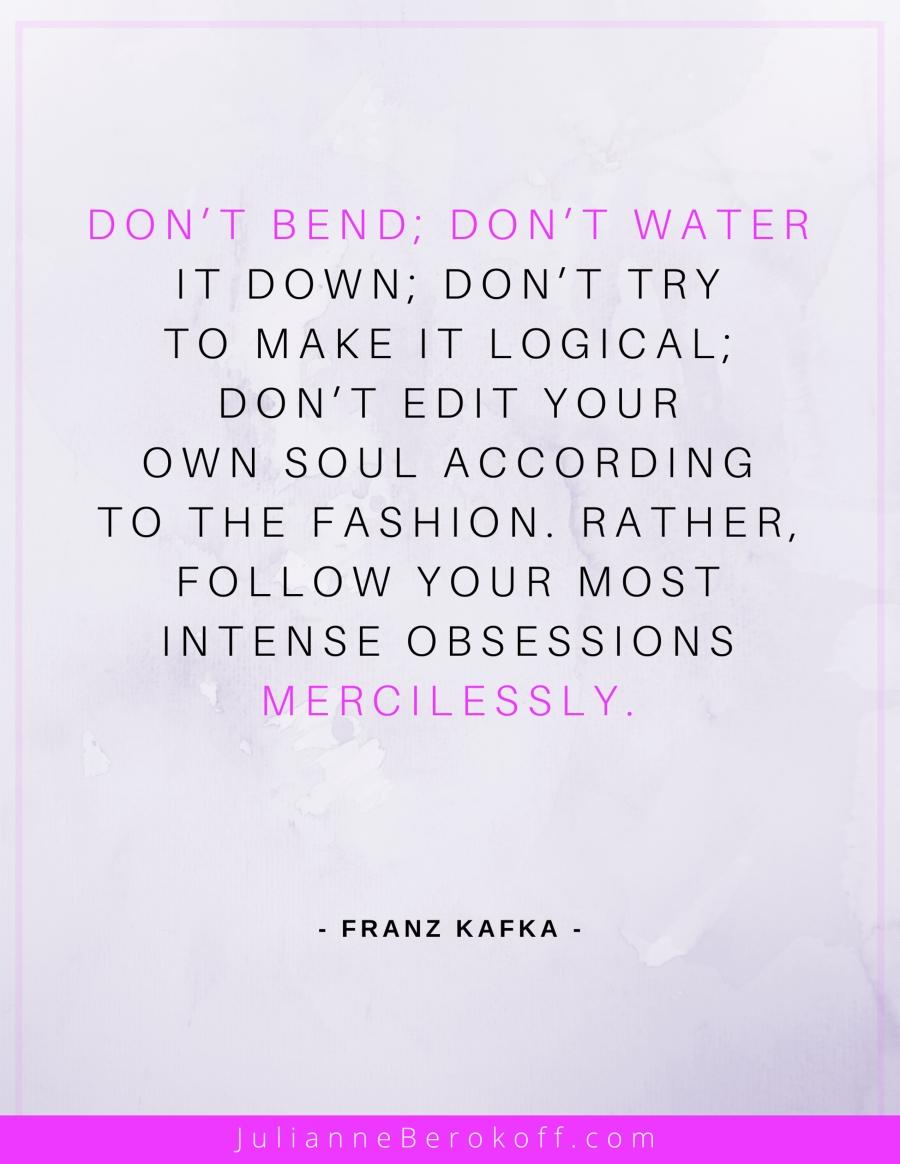Franz Kafka inspirational author quote